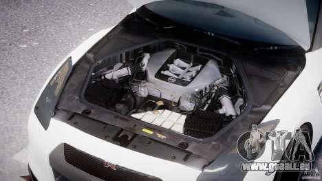 Nissan GTR R35 SpecV v1.0 pour GTA 4 vue de dessus