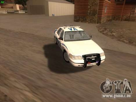Ford Crown Victoria Vancouver Police pour GTA San Andreas moteur