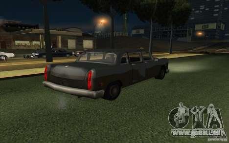 Civilian Cabbie pour GTA San Andreas vue de droite