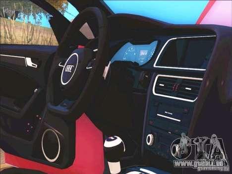 Audi RS4 Avant B8 2013 für GTA San Andreas Innenansicht