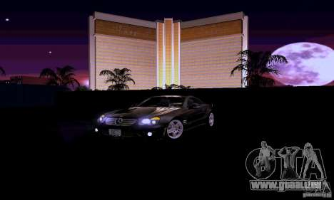 Mercedes-Benz SL65 pour GTA San Andreas vue de dessus