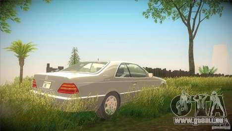Mercedes Benz 600 SEC für GTA San Andreas rechten Ansicht