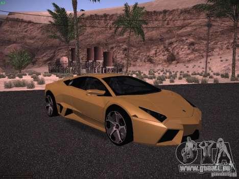 Lamborghini Reventon pour GTA San Andreas laissé vue