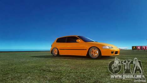 Honda Civic Tuned pour GTA 4 est une gauche