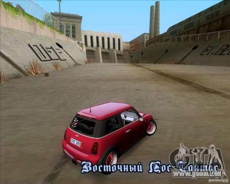 Mini Cooper S Euro pour GTA San Andreas vue de côté