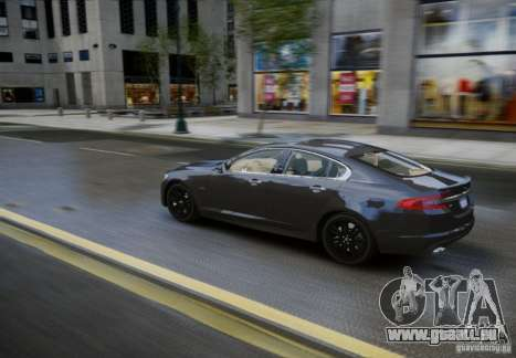 Jaguar XFR 2010 V.2.0 für GTA 4 Rückansicht