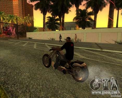 Hexer bike pour GTA San Andreas vue de dessous