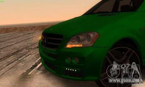 Mercedes-Benz ML63 AMG Brabus pour GTA San Andreas vue arrière