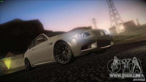 BMW M3 E92 pour GTA San Andreas salon