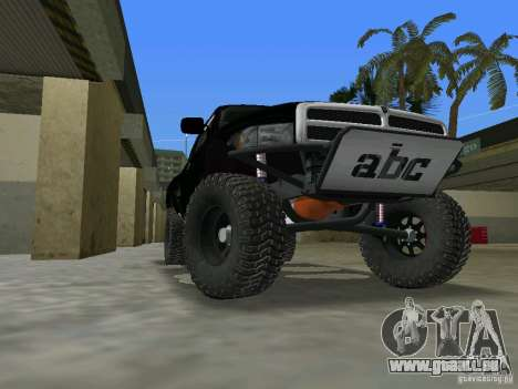 Dodge Ram Prerunner pour une vue GTA Vice City de la gauche