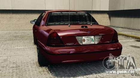 Ford Crown Victoria Police Unit [ELS] pour GTA 4 Vue arrière de la gauche