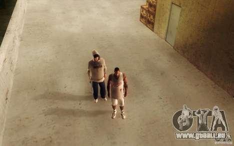 Sombras mais fortes em pedestres pour GTA San Andreas sixième écran
