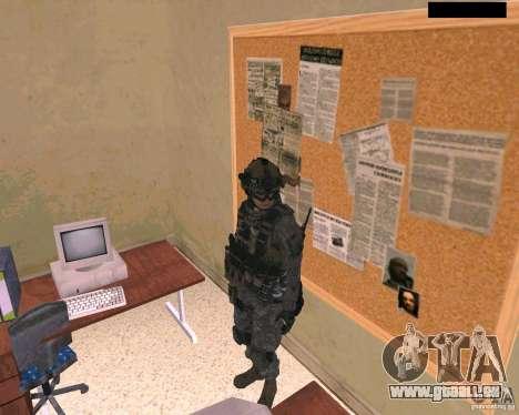 Peau du soldat de Cod MW 2 pour GTA San Andreas deuxième écran