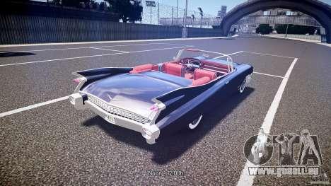 Cadillac Eldorado 1959 interior red pour GTA 4 vue de dessus