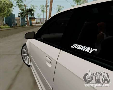 Audi S3 V.I.P für GTA San Andreas Rückansicht