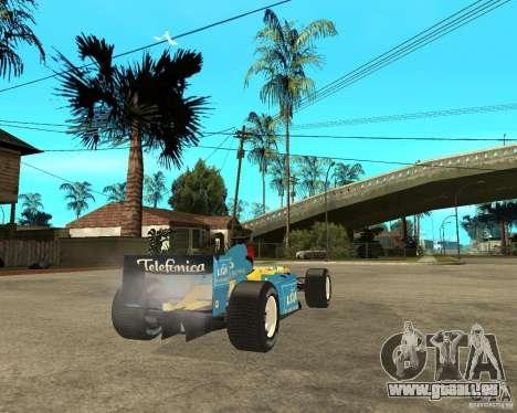 Renault F1 für GTA San Andreas zurück linke Ansicht