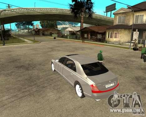 Maybach 62 pour GTA San Andreas laissé vue