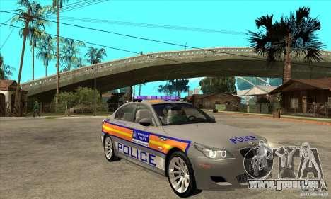 Metropolitan Police BMW 5 Series Saloon für GTA San Andreas Rückansicht
