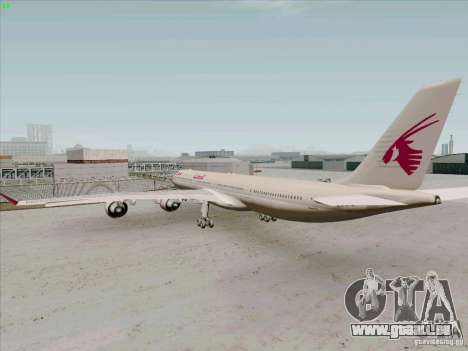 Airbus A-340-600 Quatar für GTA San Andreas rechten Ansicht