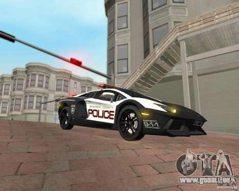 Lamborghini Aventador LP700-4 Police pour GTA San Andreas vue de droite