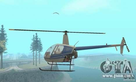 Robinson R22 pour GTA San Andreas vue intérieure