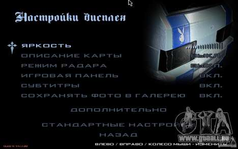 Le menu de la Nogaystan jeu de GTA pour GTA San Andreas sixième écran