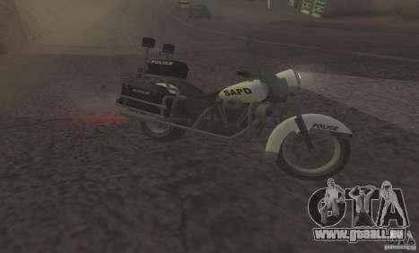Moto de la police de GTA TBoGT pour GTA San Andreas laissé vue