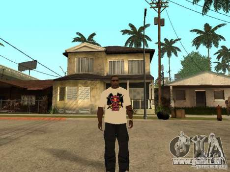 T Shirt Red Bull pour GTA San Andreas