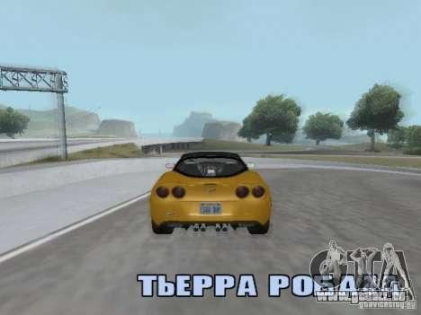 Camera Shake pour GTA San Andreas quatrième écran