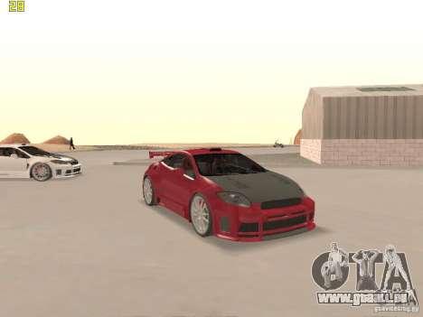 Mitsubishi Eclipse GT NFS-MW pour GTA San Andreas vue de dessous