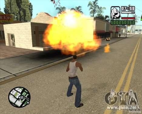 Blast (Version für Notebooks ohne Numpad) für GTA San Andreas