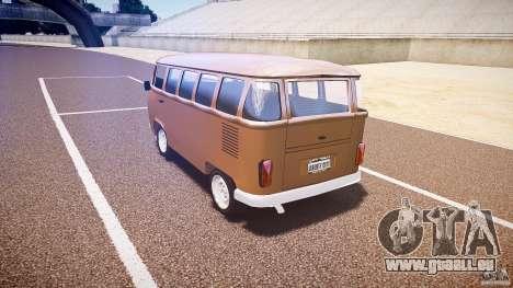 Volkswagen Kombi Bus für GTA 4 Innenansicht