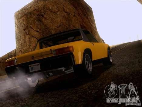 Porsche 914-6 für GTA San Andreas Rückansicht