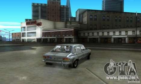 Zastava Stojadin pour GTA San Andreas sur la vue arrière gauche