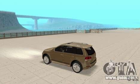 Volkswagen Touareg 2008 für GTA San Andreas Rückansicht