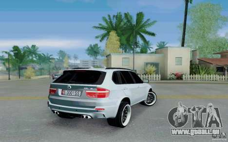 BMW X5M E70 pour GTA San Andreas sur la vue arrière gauche
