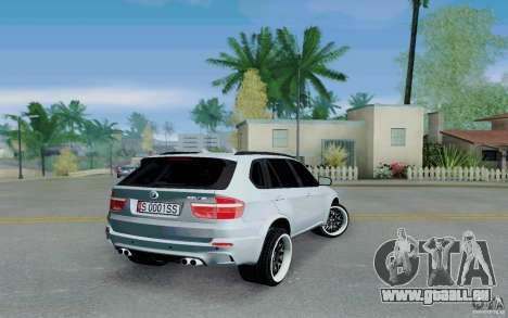 BMW X5M E70 für GTA San Andreas zurück linke Ansicht