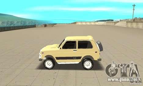 VAZ 21213 4 x 4 pour GTA San Andreas laissé vue