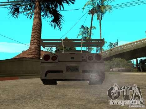 Nissan Skyline R 34 Need For Speed Carbon pour GTA San Andreas vue de droite