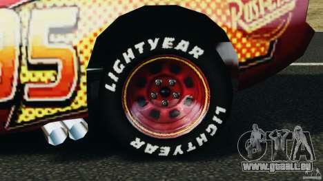 Lightning McQueen pour GTA 4 Vue arrière