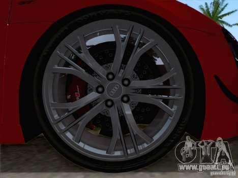 Audi R8 GT Spyder für GTA San Andreas Rückansicht