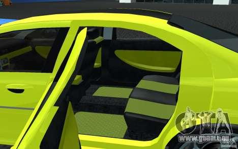Volga Siber 2.5 AT Restailing pour GTA San Andreas sur la vue arrière gauche