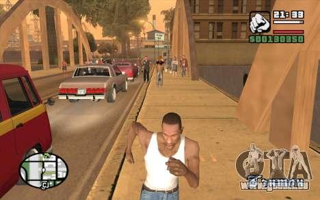 Resident Evil Dead Aim pour GTA San Andreas troisième écran