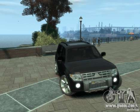 Mitsubishi Pajero für GTA 4 hinten links Ansicht