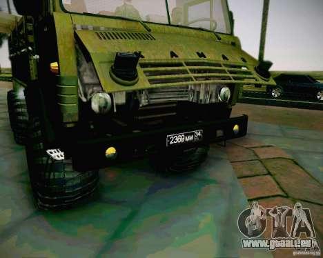 KAMAZ 4310 armée pour GTA San Andreas vue de droite