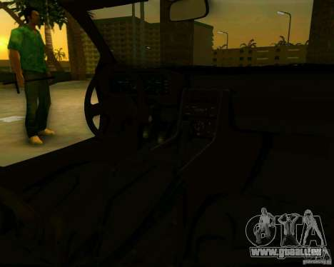 DeLorean DMC-12 V8 pour GTA Vice City sur la vue arrière gauche