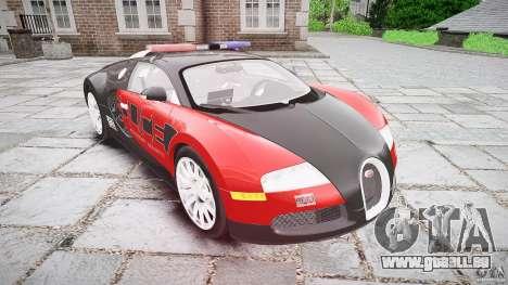 Bugatti Veyron 16.4 Police [EPM/ELS] pour GTA 4 Vue arrière