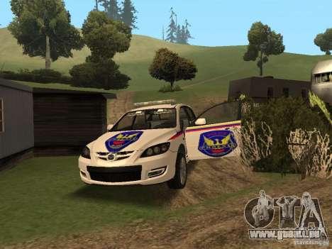 Mazda 3 Police für GTA San Andreas Seitenansicht