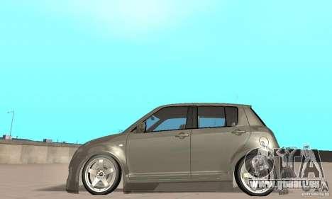 Suzuki Swift Tuning pour GTA San Andreas sur la vue arrière gauche