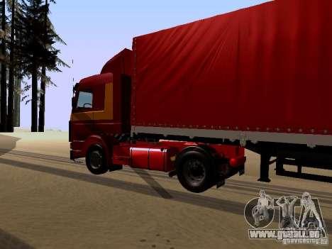 Scania 143M pour GTA San Andreas vue de droite